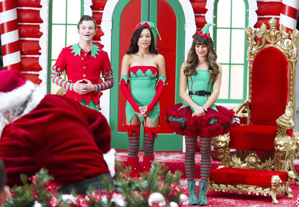 Glee Santa has arrived.