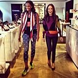 Catt Sadler went shopping at Selfridges with basketball player Swin Cash.  Source: Instagram user iamcattsadler