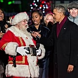 For his final appearance at the annual Christmas Tree Lighting ceremony in Washington, DC in December, Barack invited Eva Longoria, Marc Anthony, Chance the Rapper, Kelly Clarkson, and more to help him celebrate the season alongside First Lady Michelle Obama, and their daughter Sasha.
