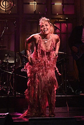 Miley Cyrus Wears 16Arlington Dress For Saturday Night Live
