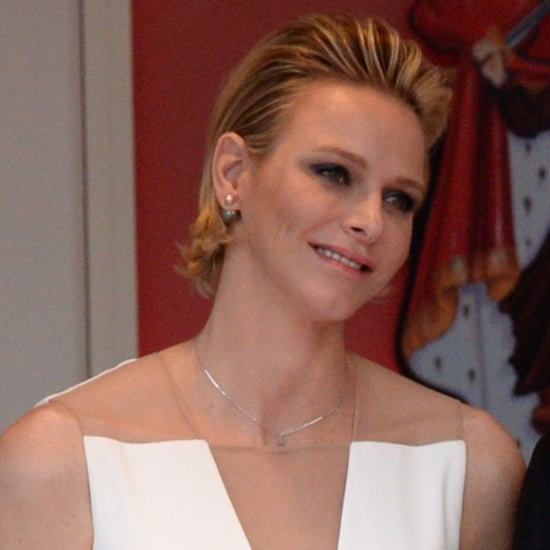 Princess Charlene's Ivory Gown at Monaco Grand Prix