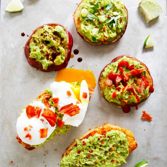 Avocado Toast on Sweet Potato Bun