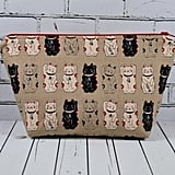 Lucky Japanese Cat Makeup Bag ($20)