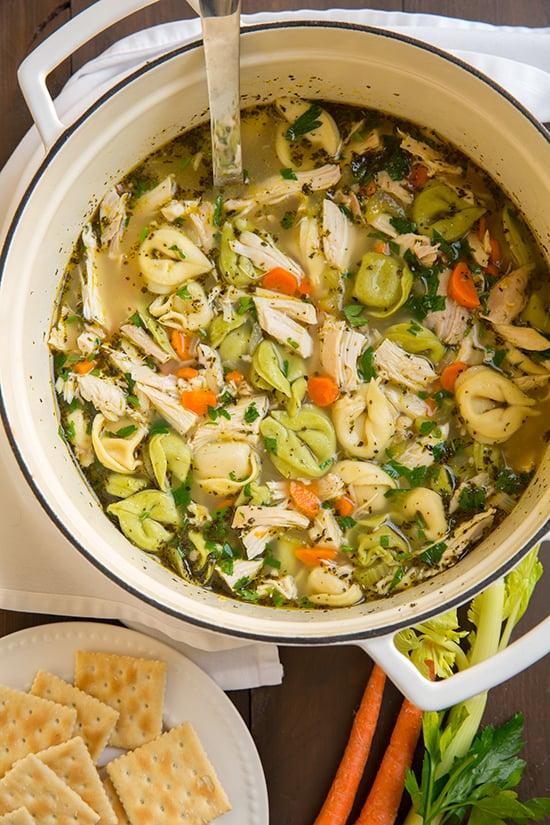 Tortellini Chicken Noodle Soup
