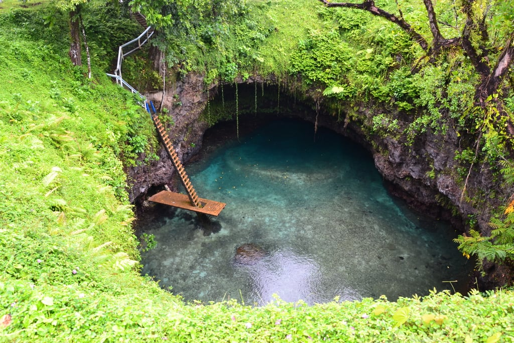 Find the hidden To Sua Ocean Trench in Apia, Samoa.