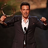 Ben Affleck was excited to win his award in 2013.