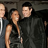 Jada Pinkett Smith and Tom Cruise shared a laugh at the 2004 premiere of Collateral.
