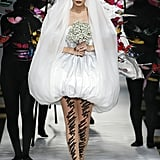Gigi Hadid as a Bride in Moschino's Spring / Summer 2019 Show