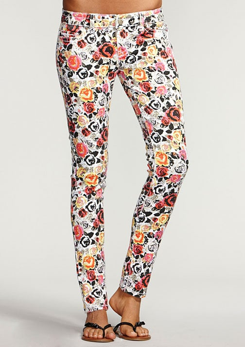 Printed jeans are a no-brainer; wear this pair with a gray or white slouchy tee and denim vest.  Delia's Rose Printed Skinny Jeans ($40)