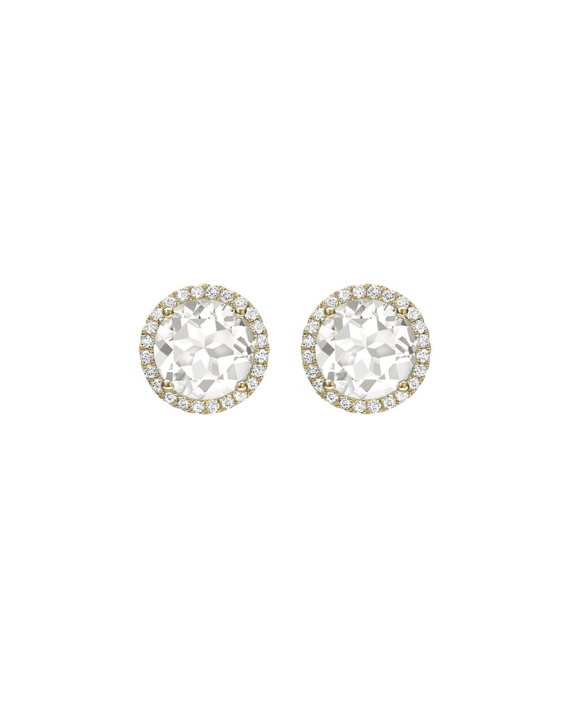 s gold lyst topaz jewelry metallic stud ef women collection white diamond earrings yellow