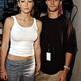 At the 2001 Teen Choice Awards, Jessica Biel held hands with 7th Heaven costar Adam LaVorgna.