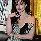 Helena Bonham Carter playfully posed for the camera.