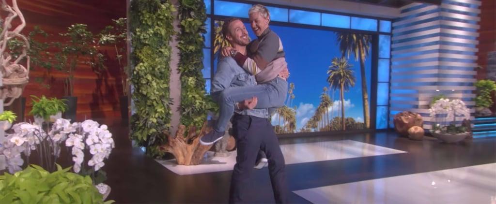 Ryan Gosling Catching Ellen DeGeneres Video