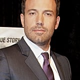 Ben Affleck smiled at the Argo premiere in Washington DC.