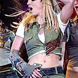 She broke out her moves at an event in Philly in February 2002.