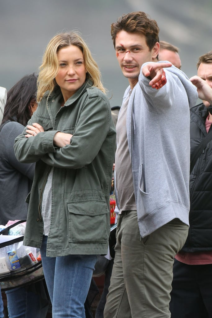 James Franco and Kate Hudson shared a laugh in London while filming scenes for Good People in NYC on Tuesday.