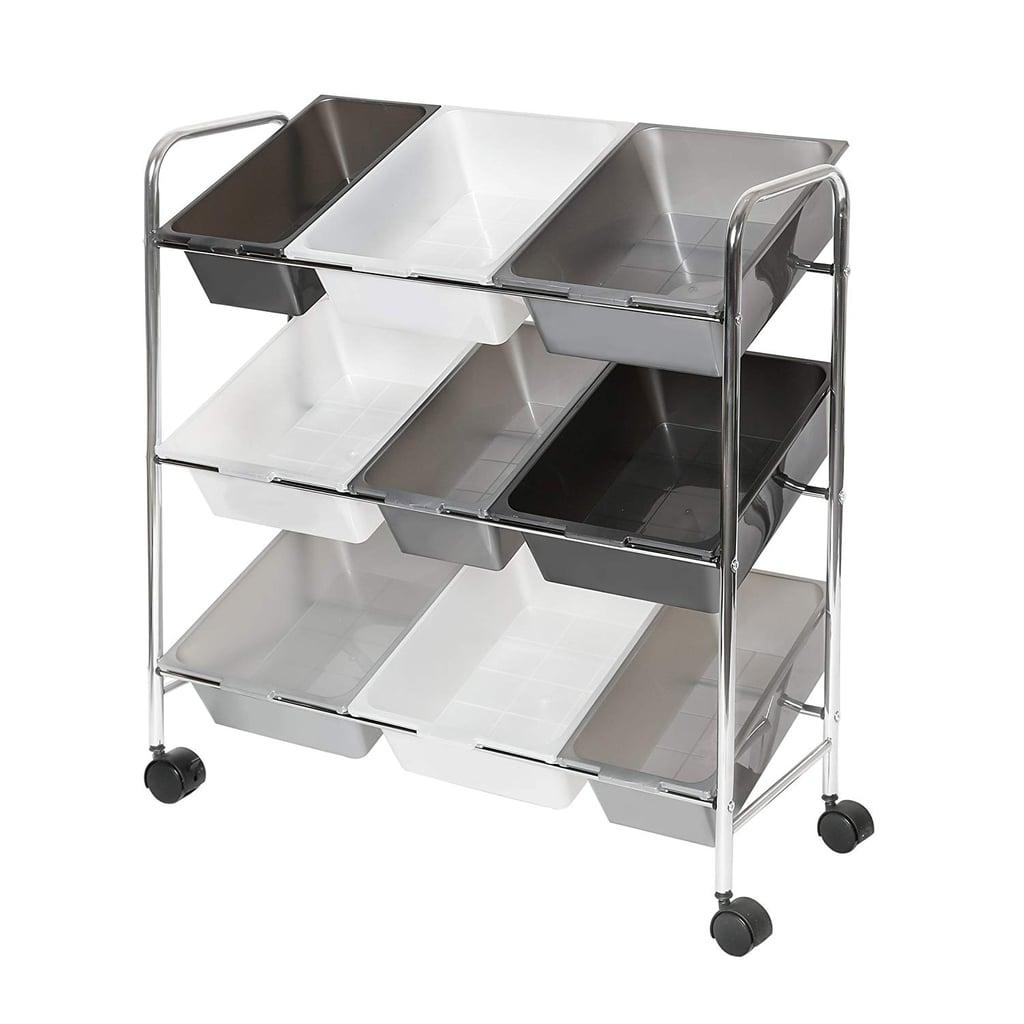 Seville Classics Mobile 9-Bin Storage Organizer