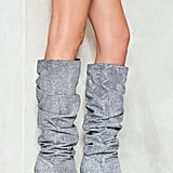 Nasty Gal The Twist Glitter Boot