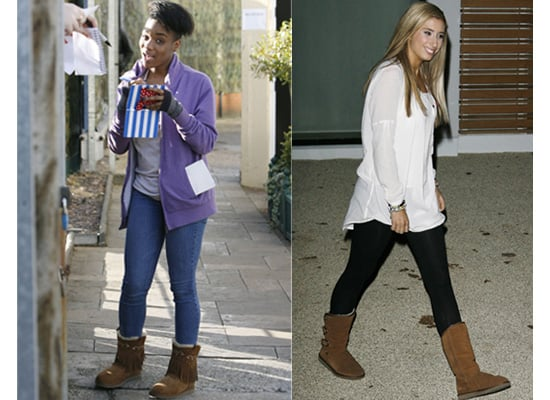 X Factor Stars Stacey and Rachel in Jumbuck Boots