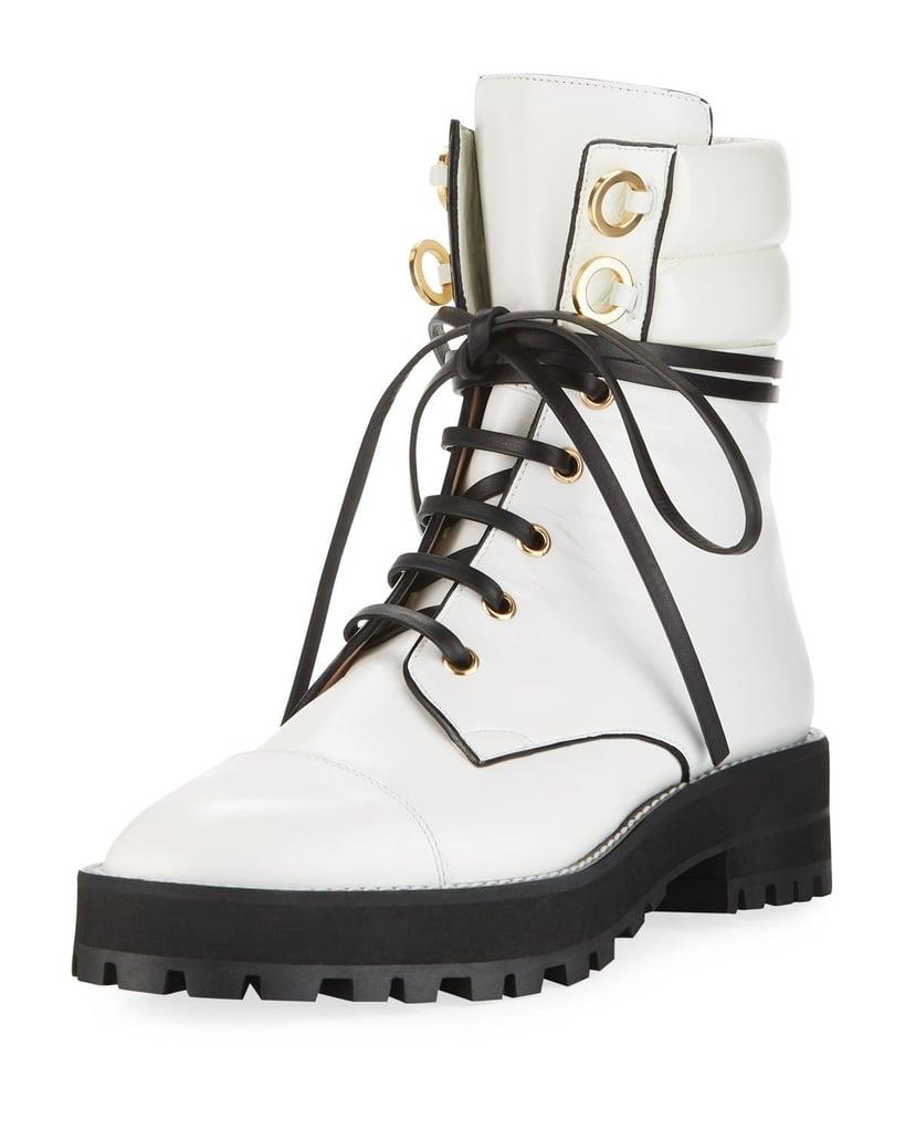 Stuart Weitzman Lexy Leather Combat Boot