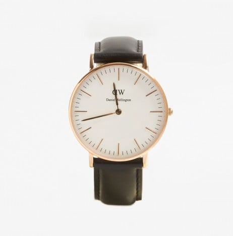 """Daniel Wellington Classic Sheffield Lady Watch ($200) """"Clean, modern, and rose gold — timeless."""""""