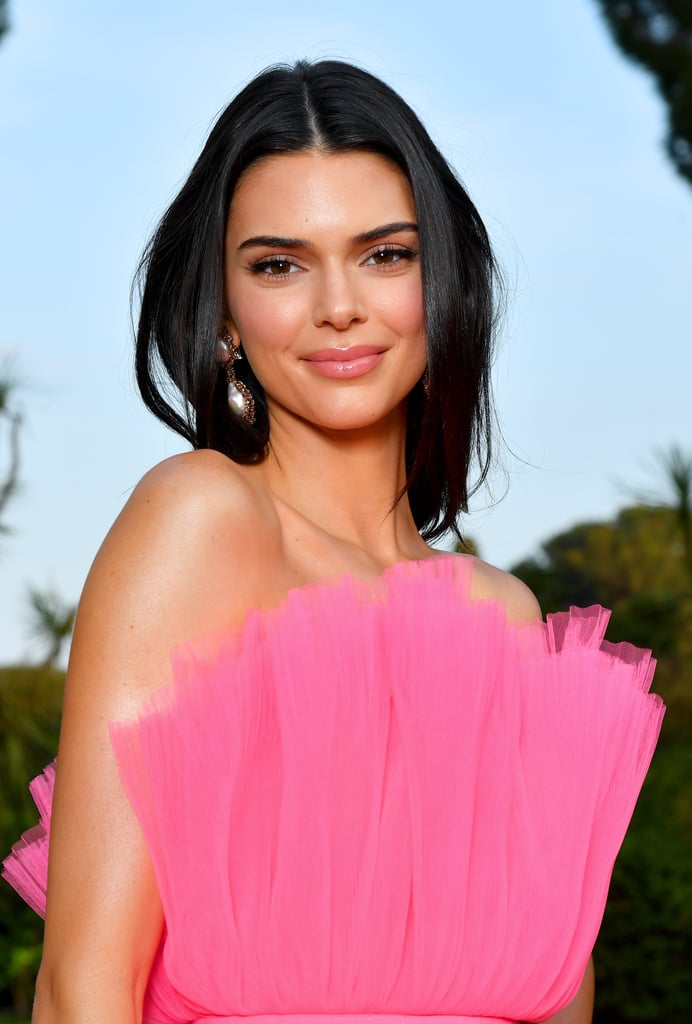 Kendall Jenner's Half-Moon Nail Art With Negative Space