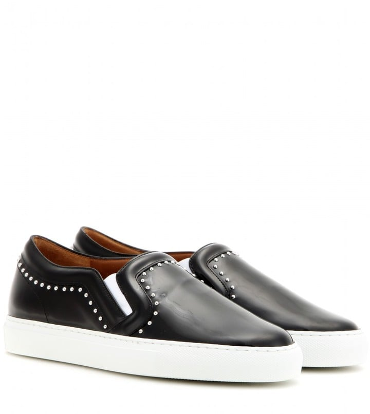 53ae3133d88f0 Givenchy Embellished patent leather slip-on sneakers ( 775 ...