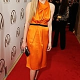 Amanda Seyfried wore bright orange to the Producers Guild Awards.