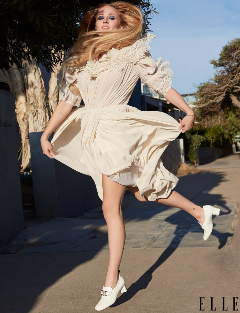 Sophie Turner Wearing Louis Vuitton in Elle April Cover