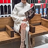 She Chose the Beige Sneaker Boot, However, For the DKNY Event