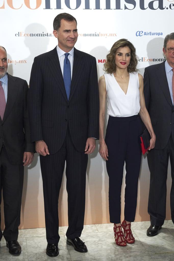Queen Letizia's Red Mango Sandals June 2016