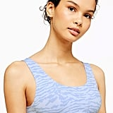 Topshop Zebra Printed Sporty Crop Top