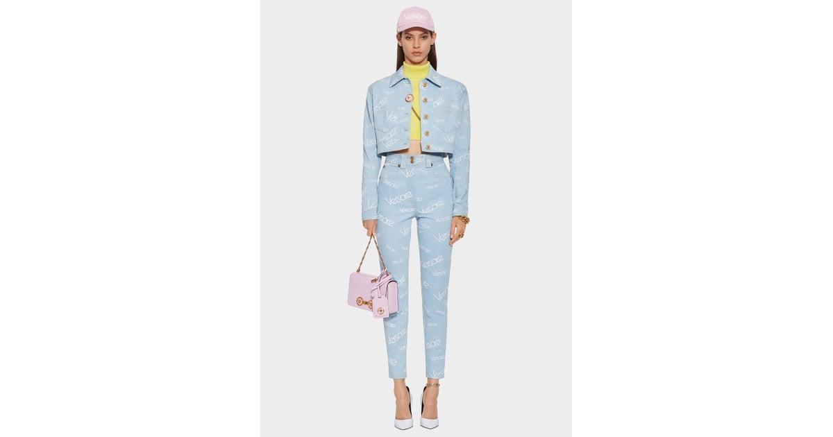 2d04c96572 Versace High Vintage Logomania Jeans   Denim Trends Fall 2018 ...