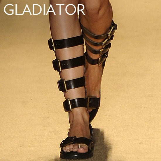 Why we love them: Gladiators have surfaced in all kinds of fresh styles for the upcoming season. Some are more dramatic, others offer sleeker takes on the trend. What we love is the subtle statement quality that pairs well with almost anything in our closets. How to wear them: Flat versions add interest to Spring dresses and skirts, while heeled versions work just as well with cuffed boyfriend jeans. Either way, they're a standout style that boasts major versatility.  Photo: Michael Kors Spring 2012