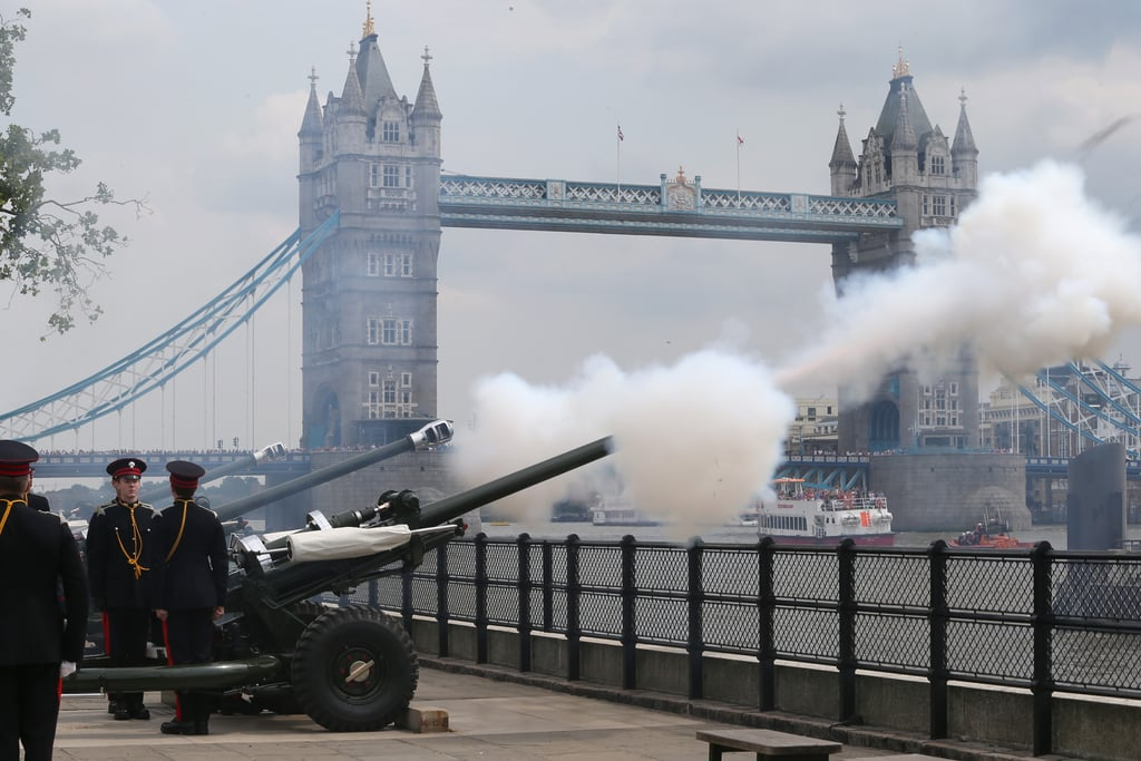 There's a Gun Salute After the Baby's Birth