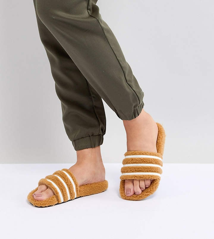 f29a77c0881 adidas Adilette Furry Slider Sandals