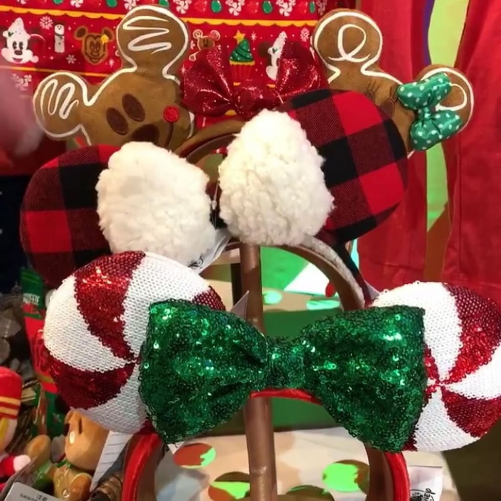 Christmas Minnie Mouse Disneyland.Disney Christmas Minnie Mouse Ears 2019 Popsugar Smart Living