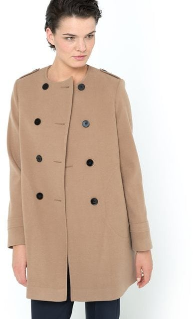 Laura Clement Double-Breasted Collarless Coat (£89)