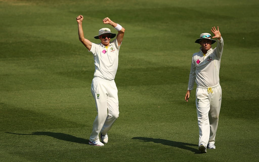Peter Siddle demonstrated some celebratory moves on the field.