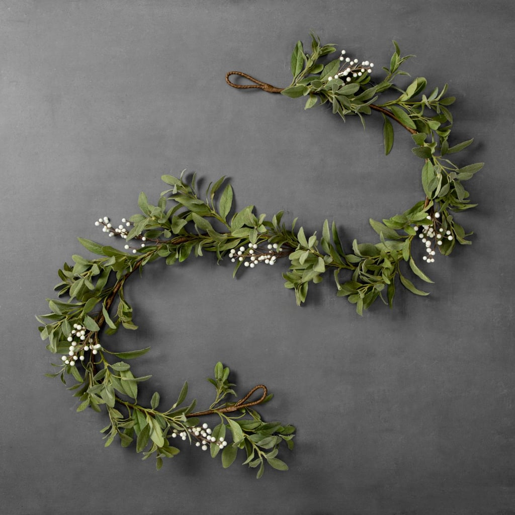 artificial lamb ear and berry garland 20 hearth and hand holiday collection 2017 popsugar. Black Bedroom Furniture Sets. Home Design Ideas