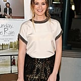 Leighton Meester kept things casual at the premiere of Like Sunday, Like Rain in California on Wednesday.