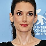 Winona Ryder wore her hair pulled back at the premiere of Ice Man.