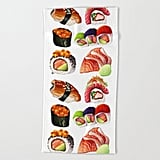 Society6 Sushi Beach Towel