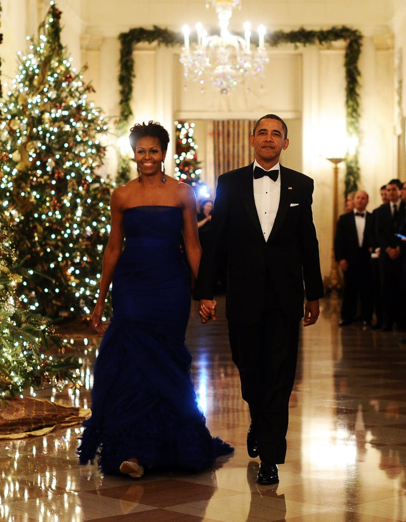 Michelle Obama and Barack Obama walked hand in hand to an event in Washington DC.