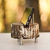 One of a kind charging dock ($30) made from a log.