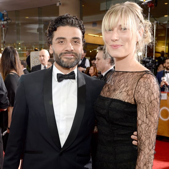 Celebrities hanging out with Oscar Isaac at theGolden Globes