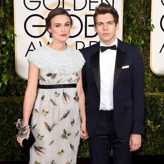Keira Knightley Reveals Her Baby Bump at the Golden Globes