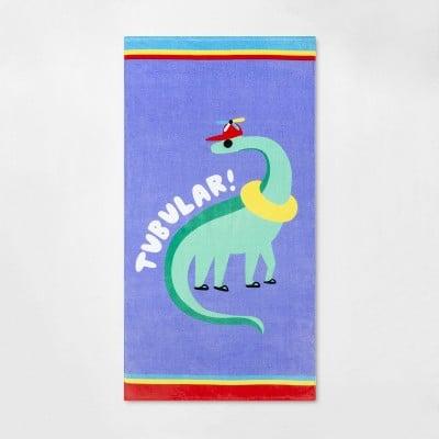Tubular Dino Beach Towel