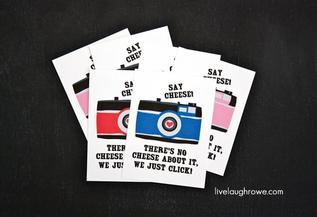 Say Cheese Valentine's Printable