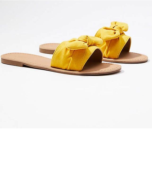 Refined Slide Bow Sandal